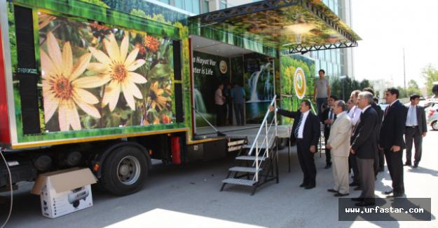 Orman Bakanlığının aracı Urfa'ya geliyor