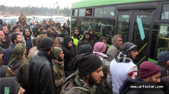 Otobüsler Halep'e girdi