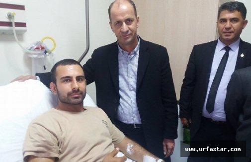 Yavuz'dan yaralı askerlere ziyaret