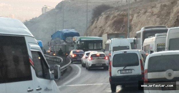 Akabe'de trafik felç oldu…