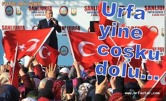 Cumhurbaşkanı Erdoğan'ın Urfa mitinginden kareler...