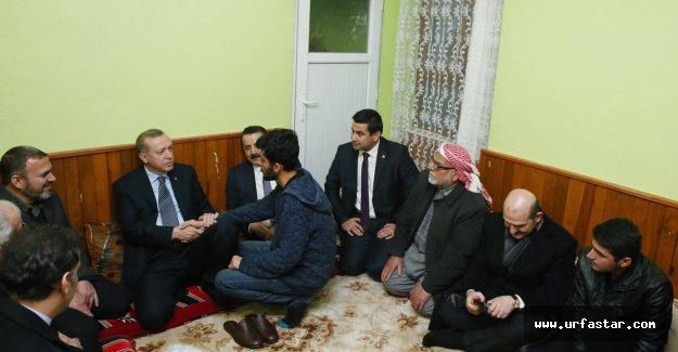 Erdoğan'dan şehit ailesine taziye ziyareti