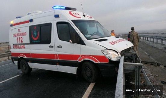 Kazaya giden ambulans zincirleme kazaya karıştı
