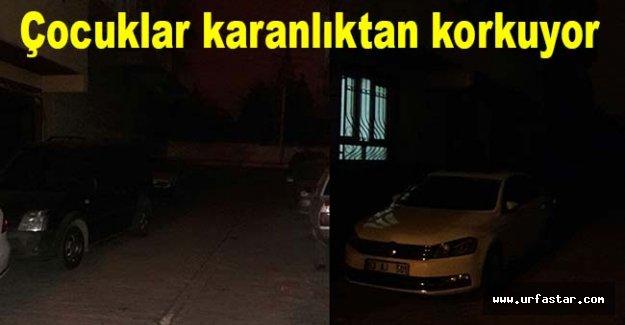 Urfa'da bazı sokaklar karanlıktan geçilmiyor