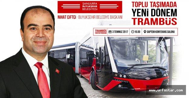 Büyükşehir'den trambüs tanıtımı