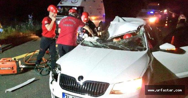 Urfa'da feci kaza: 1 ölü