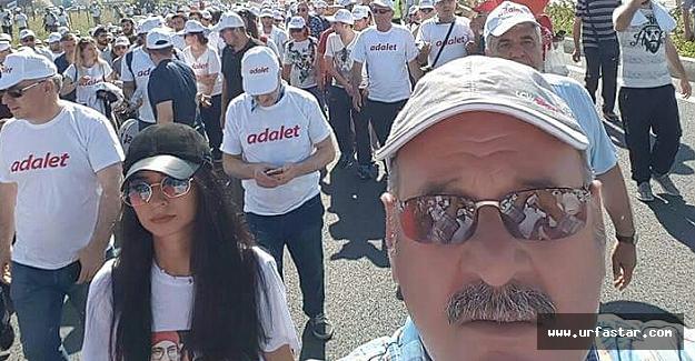 Urfa'dan CHP'nin yürüyüşüne destek