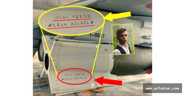 F-16'lar teröristleri bu notla vurdu