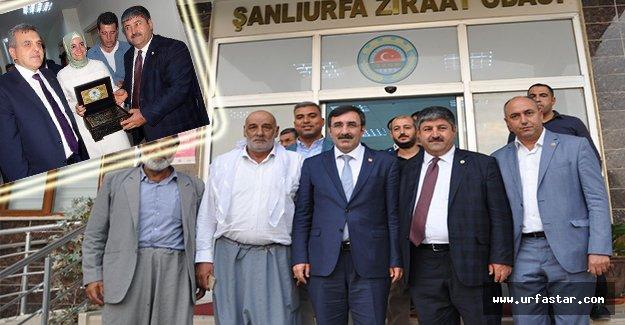 Bakan Kaya ve Yılmaz Başkan Eyüpoğlu'nu ziyaret etti