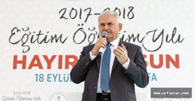 Başbakan Yıldırım Urfa'da önemli açıklamalarda bulundu