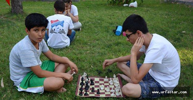 Ceylanpınar sokaklarında satranç keyfi