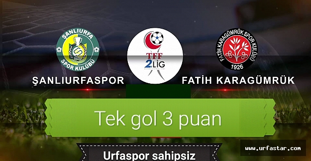 Mardin'de tek gol var.