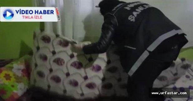 Urfa'da evlere baskın yapıldı