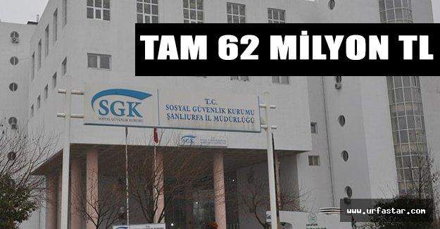 Urfa SGK İl Müdürlüğü alacaklı!