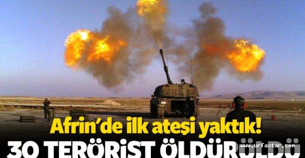 Afrin'e ilk atış yapıldı