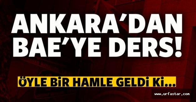 Ankara'dan BAE'ye anlamlı gönderme