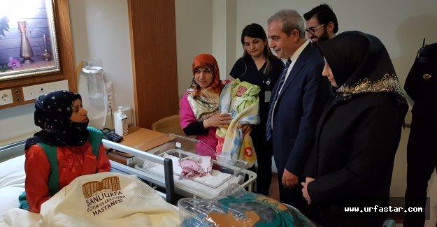 Urfa'da yılın ilk bebeği Zeynep Yağmur oldu