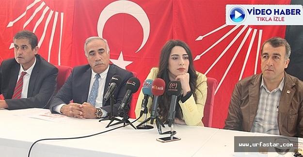 CHP Urfa heyeti basın karşısına çıktı