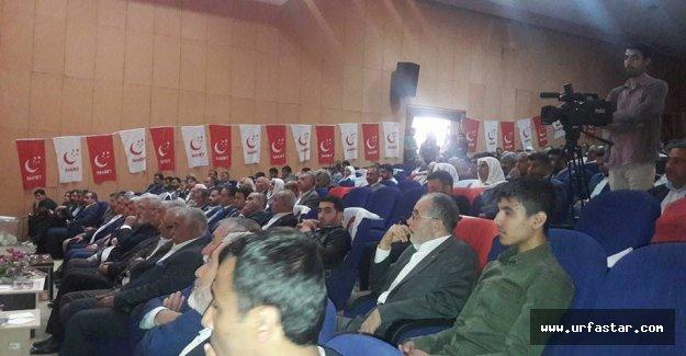 Saadet Viranşehir'de kongreye gitti