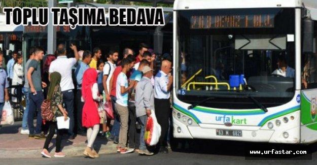 Şanlıurfa'da Bugün Toplu Taşıma Ücretsiz