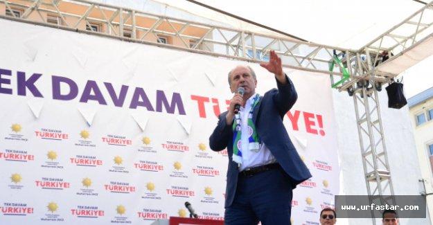 İnce, Erdoğan'ın mesajını Rizelilere iletti