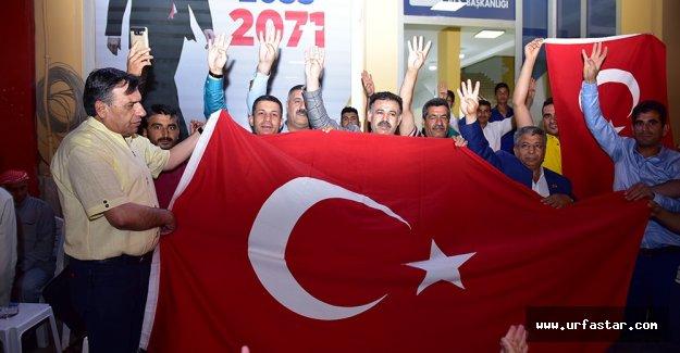 Ceylanpınarlı gençler AK Parti'ye çıkarma yaptı