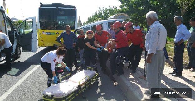 Urfa Mardin yolunda feci kaza! Bacağı koptu