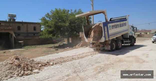 Eyyübiye kırsalında çalışmalar sürüyor