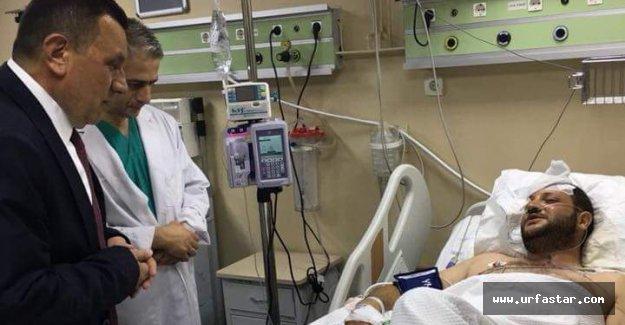 Özyavuz, Hastaları ziyaret etti...