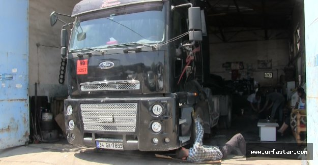 Urfa'da kamyon tamircileri dertli!..(video)