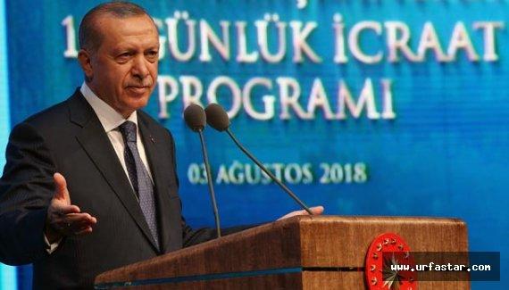 Erdoğan'dan Urfa'ya müjde...