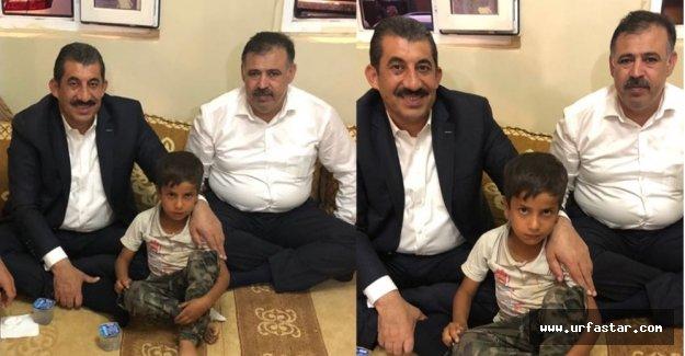 Başkan Atilla o çocuğu ziyaret etti
