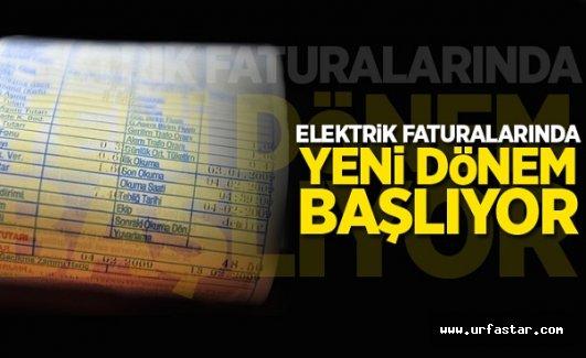 Elektrik faturalarında yeni düzenleme
