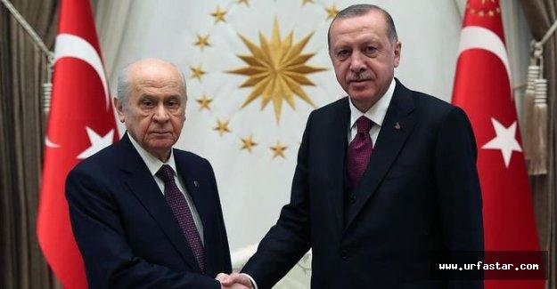 Erdoğan-Bahçeli görüşmesi sona erdi!
