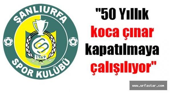 Urfaspor Kulübünden şok eden açıklama...