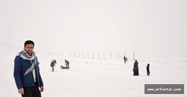 Karacadağ'da kar keyfi devam ediyor...