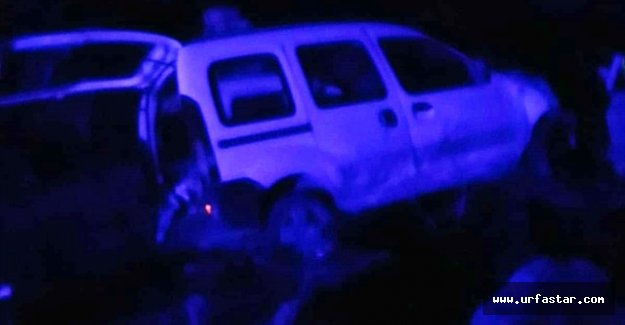 Suruç'ta araç şarampole yuvarlandı
