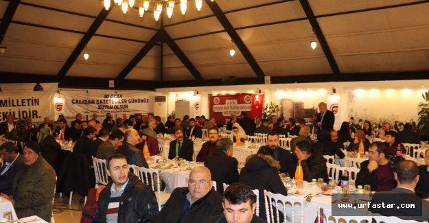 Urfa'da Gazeteciler bu gecede buluştu...