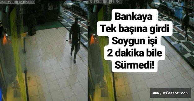 Urfa'da film gibi banka soygunu!