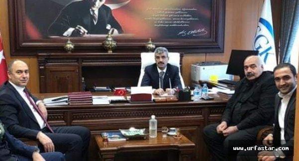 Aksoy, SGK Başkanı'nı ziyaret etti