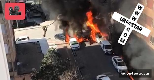 Urfa'da patlama araçlar küle döndü!