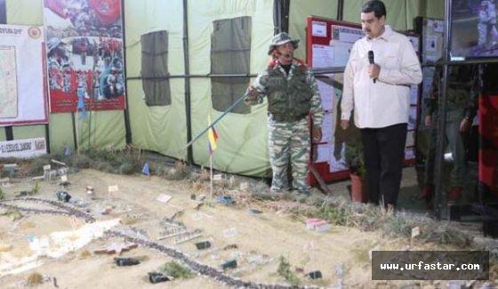 Venezuela'da askerler sahaya indi