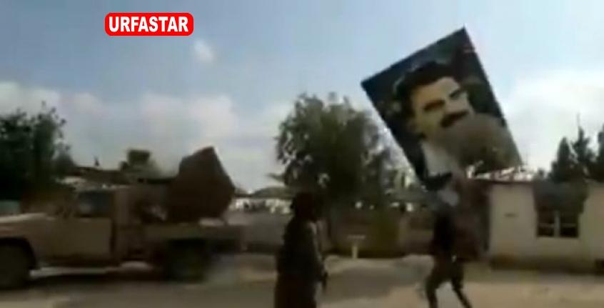 Teröristbaşı  Öcalan'ın posterleri  söküldü