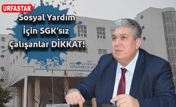 SGK Müdürü Ünlü'den flaş açıklamalar