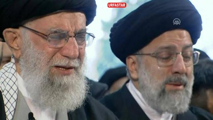 Hamaney Süleymani'nin cenazesinde böyle ağladı