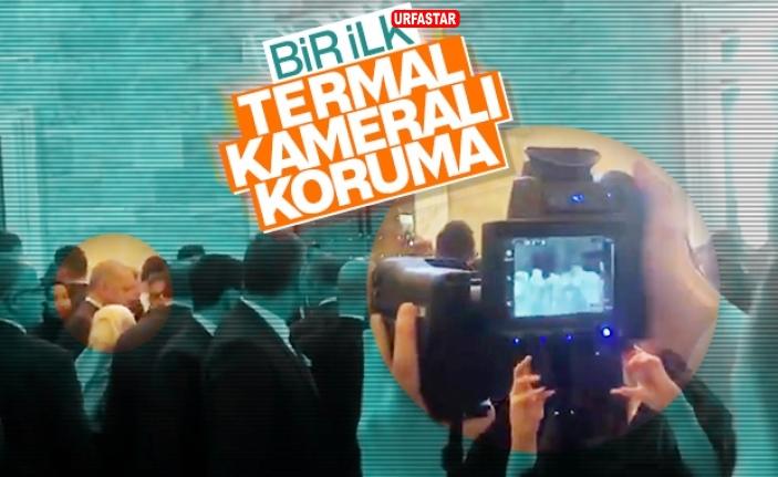 Başkan Erdoğan termal kamera ile korunuyor