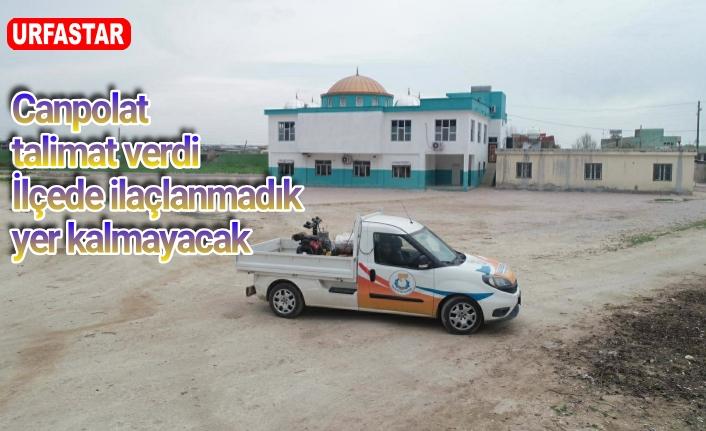Haliliye'de kırsal mahallelerde dezenfekte ediliyor