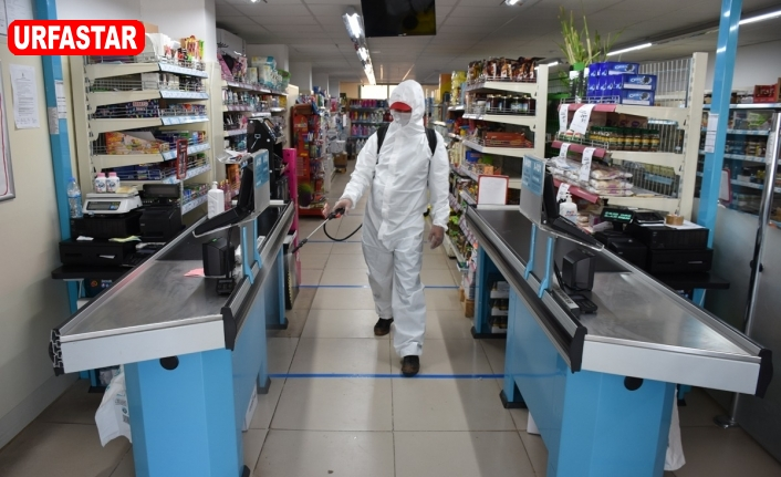 Hilvan'da her yer dezenfekte ediliyor