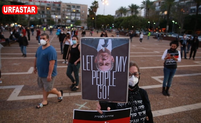 Netanyahu'ya karşı mesafeli protesto