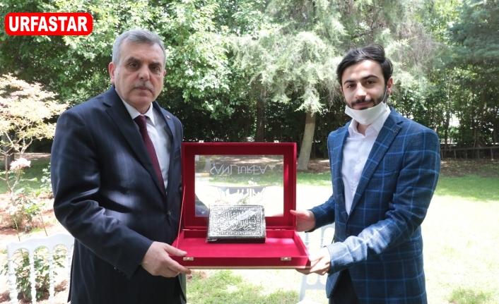 Beyazgül Türkiye birincisini kabul etti